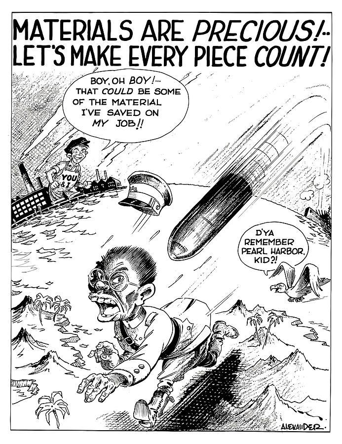 693x900 Ww2 Material Conservation Cartoon Digital Art By War Is Hell Store
