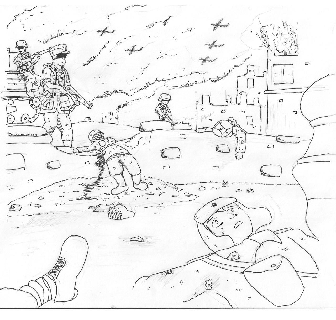 1280x1219 Ww2 Drawings By Desynchronizer