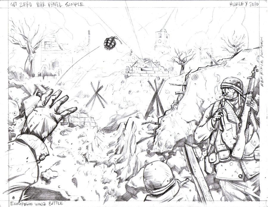 900x695 Ww2 Trenches By Ehurley