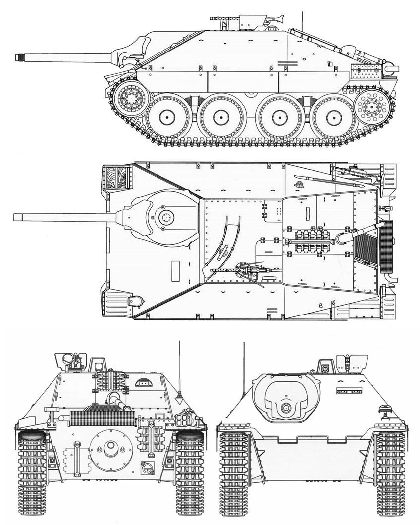848x1060 Hetzer Blueprint Fahrzeuge Und Panzer Ww2