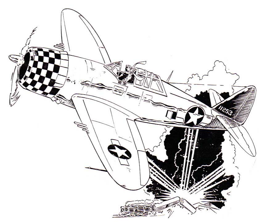 Ww2 Plane Drawing