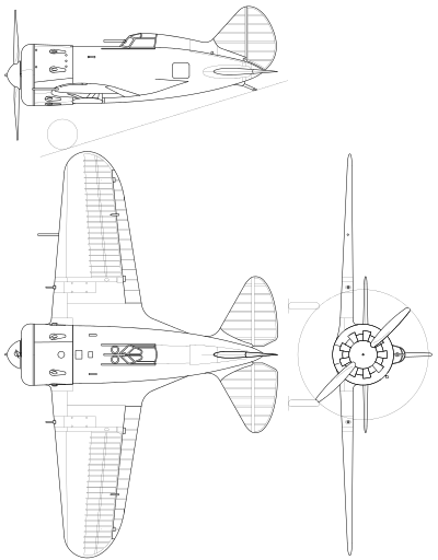 400x512 Polikarpov I 16