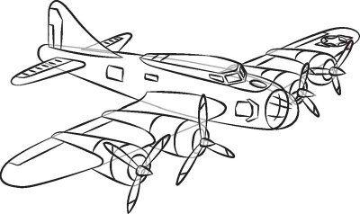 400x238 World War 1 Plane Drawing