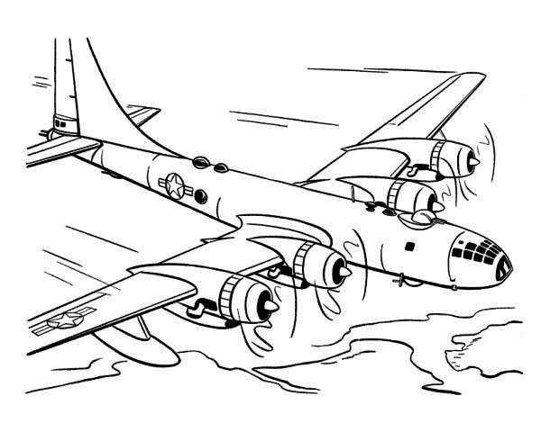 600x490 World War 2 Planes Color Pages Horse Coloring Pages