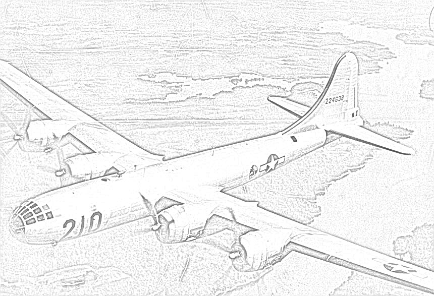860x587 World War Ii In Pictures Coloring Pages World War Ii Bombers