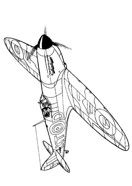 545x768 Coloring Page Wwii Aircrafts