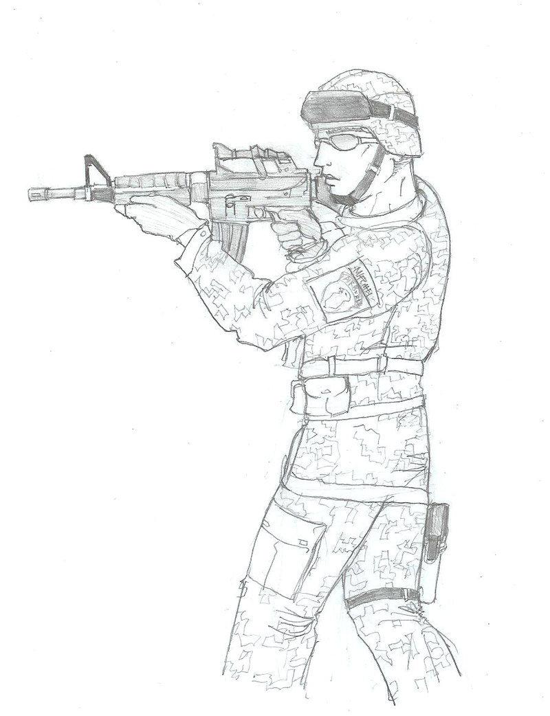 800x1042 Army Soldier Drawing Us Army Soldier Drawing