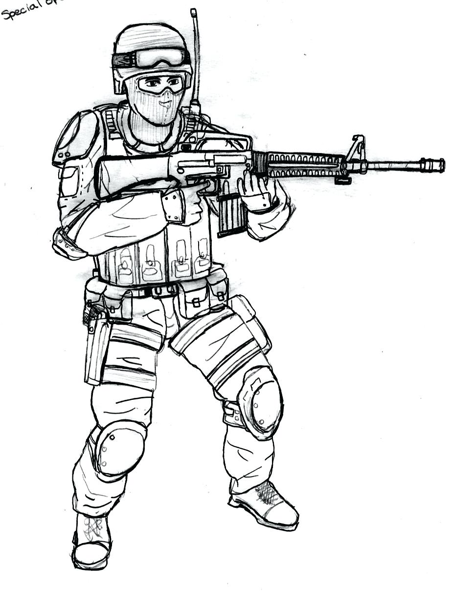 Ww2 soldier drawing at free for personal for Ww2 coloring pages soldiers