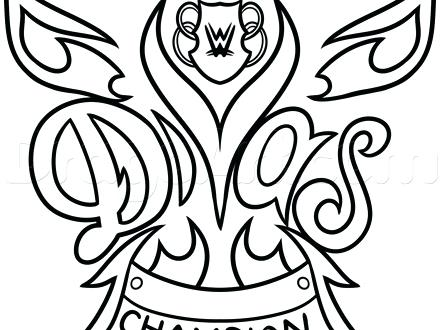 440x330 Wrestling Color Pages Coloring Pages Wrestling Wwe Champion Belt
