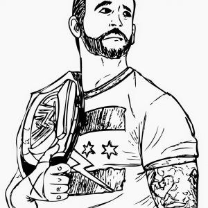 300x300 Wwe United States Championship Coloring Pages Copy United States