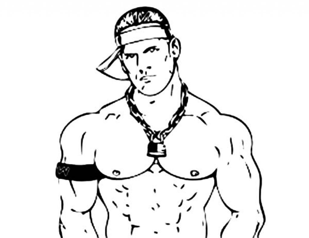 1024x791 John Cena Coloring Pages Photo Gallery Of Wwe Thropy And Friends