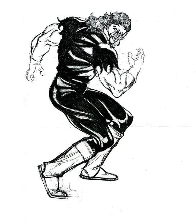 642x722 Rare Undertaker Sketches Photos Wwe