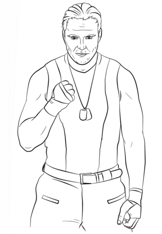 333x480 Wwe Dean Ambrose Coloring Page Free Printable Coloring Pages