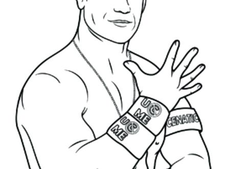 440x330 Wwe Coloring Pages John Cena Joandco.co