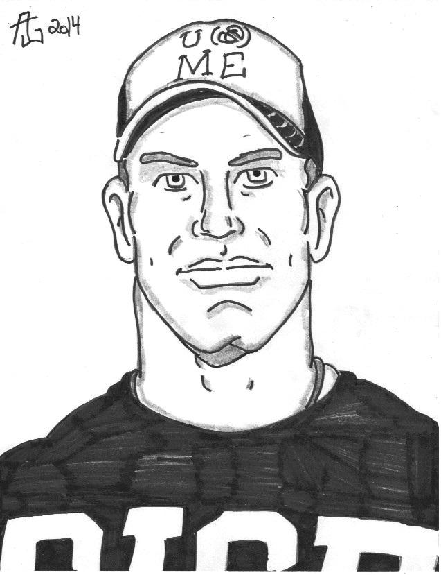 637x829 Gallery Wwe John Cena Drawings,
