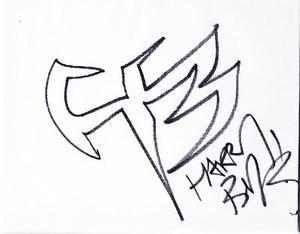 300x234 Jeffy Hardy Autograph 8x10 Sketch Drawing Signed Hardy Boyz Symbol