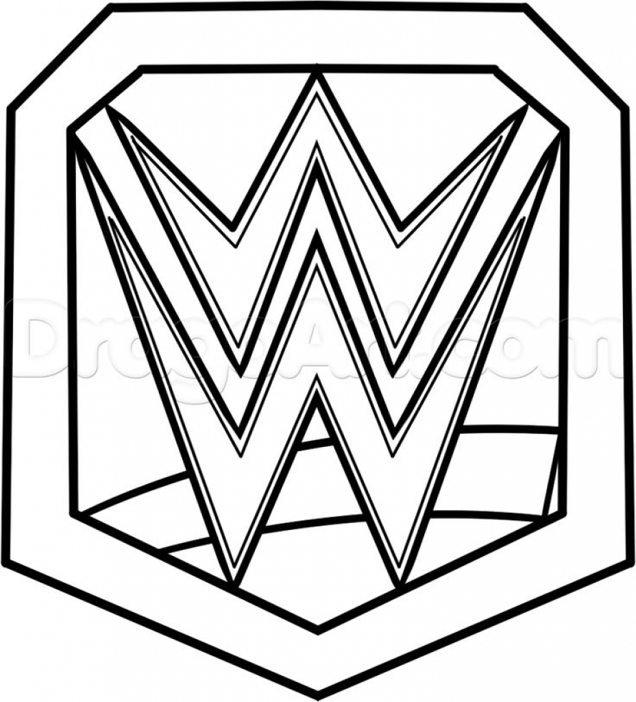Wwe Logo Drawing At Getdrawings Free For Personal Use Wwe Logo