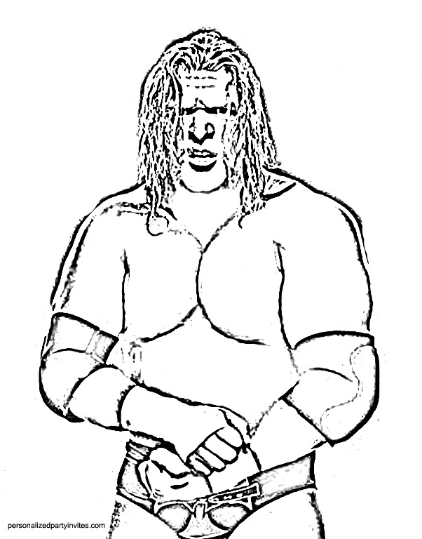 602x768 Wwe Coloring Pages Triple H WWE Logo Coloring Pages