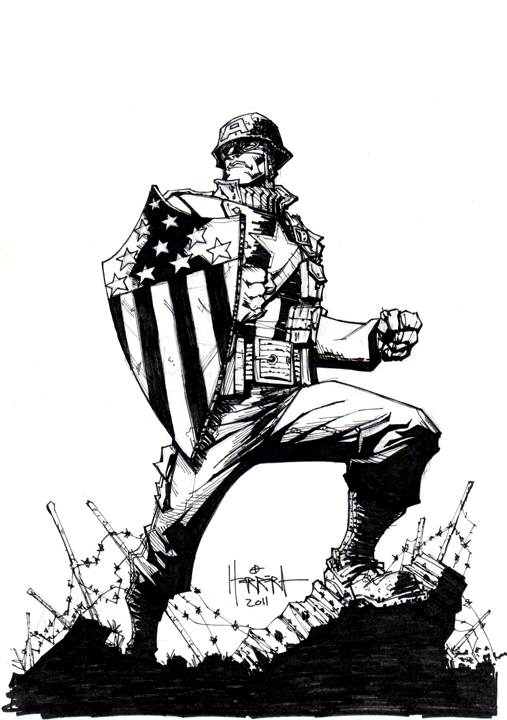 507x720 Ultimate Wwii Captain America By Benherrera