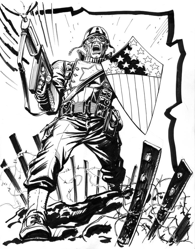 788x1007 Wwii Capt. America Con Sketch By Joejusko