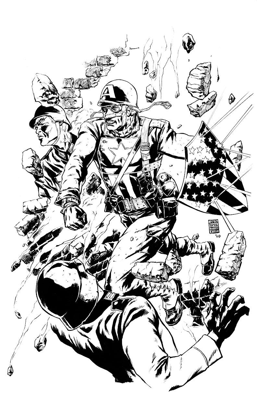 792x1224 Wwii Era Ultimate Captain America Jun Bob Kim Draws Comic Art