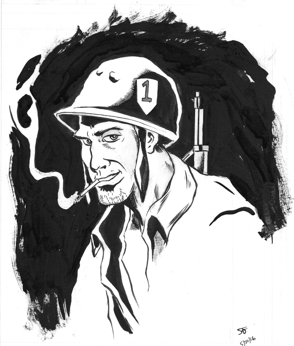 1024x1204 Wwii G.i. Sketch. For Memorial Day By Sambaran1989