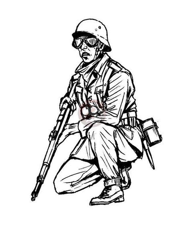 640x785 Cmk 135 German Afrika Korps (Dak) Infantryman Wwii F35215 Ebay