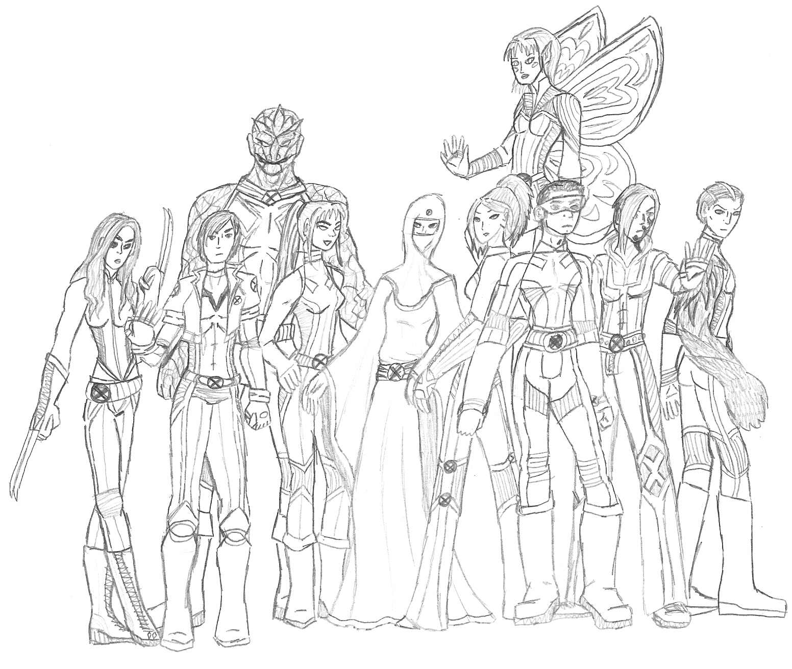1552x1312 New X Men Drawing By Valor1387