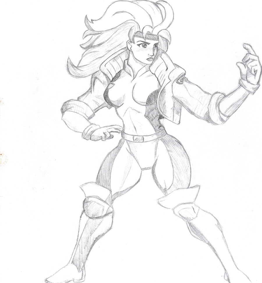 900x971 Rogue Sketch (X Men) By Robrozin