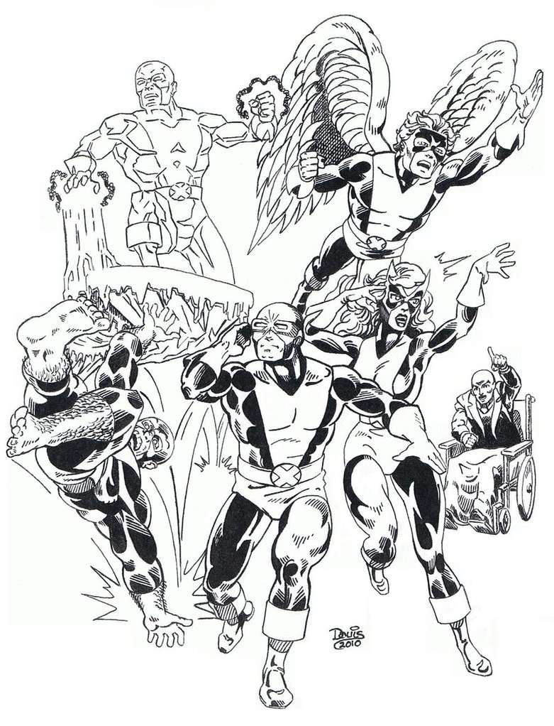 781x1022 The Original X Men By Dondalier