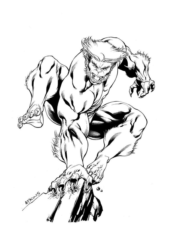 800x1075 X Men Month Beast Sotd By Robert Atkins Comic Book