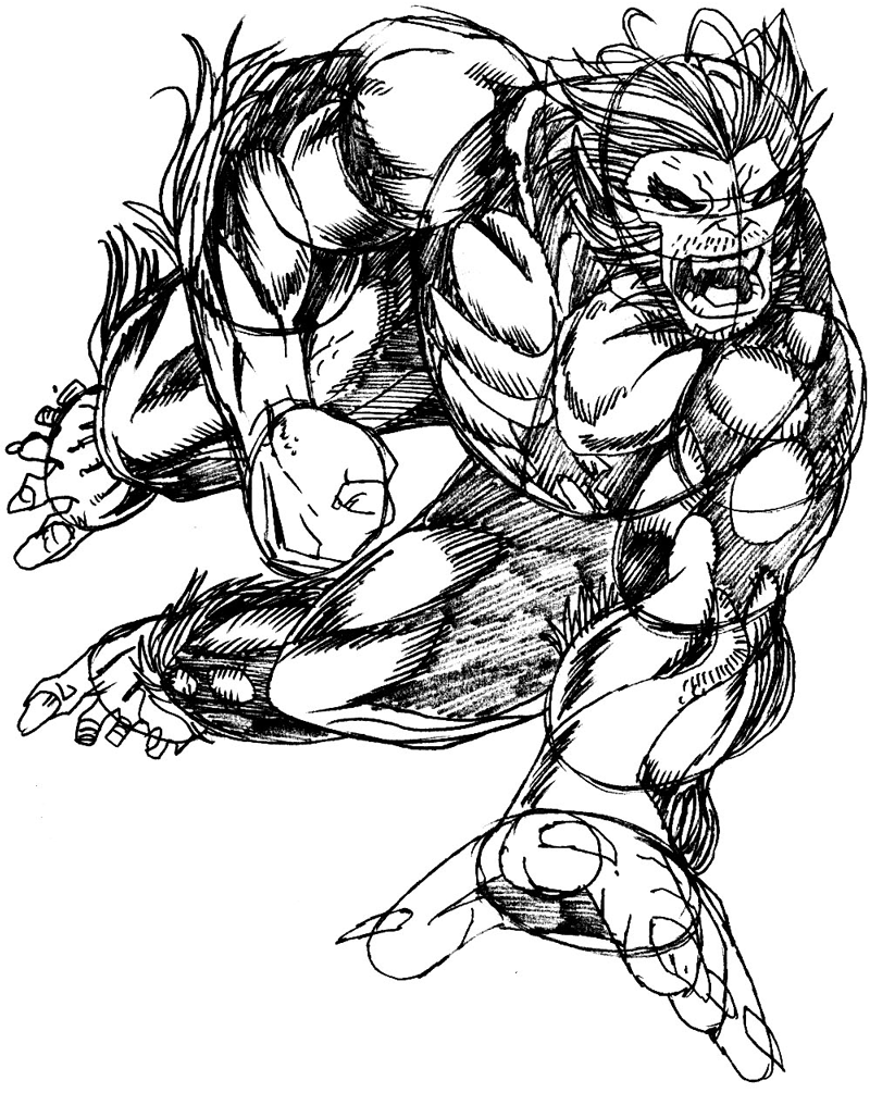 800x1005 How To Draw Beast From Marvel's X Men Superhero Team Drawing