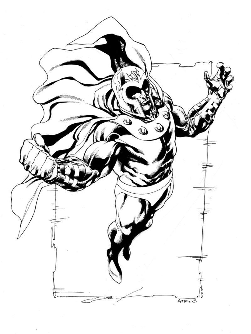 800x1066 X Men Month Magneto Inked Sotd By Robert Atkins Comic Book