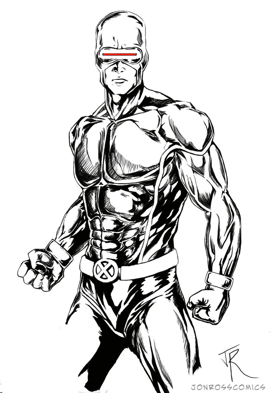 900x1309 Xmen Cyclops Danger Sketch By