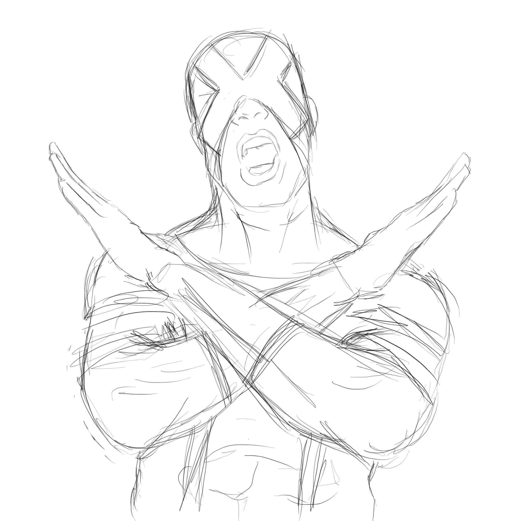 1949x2006 Cyclops New X Men Sketch By Ivo0599