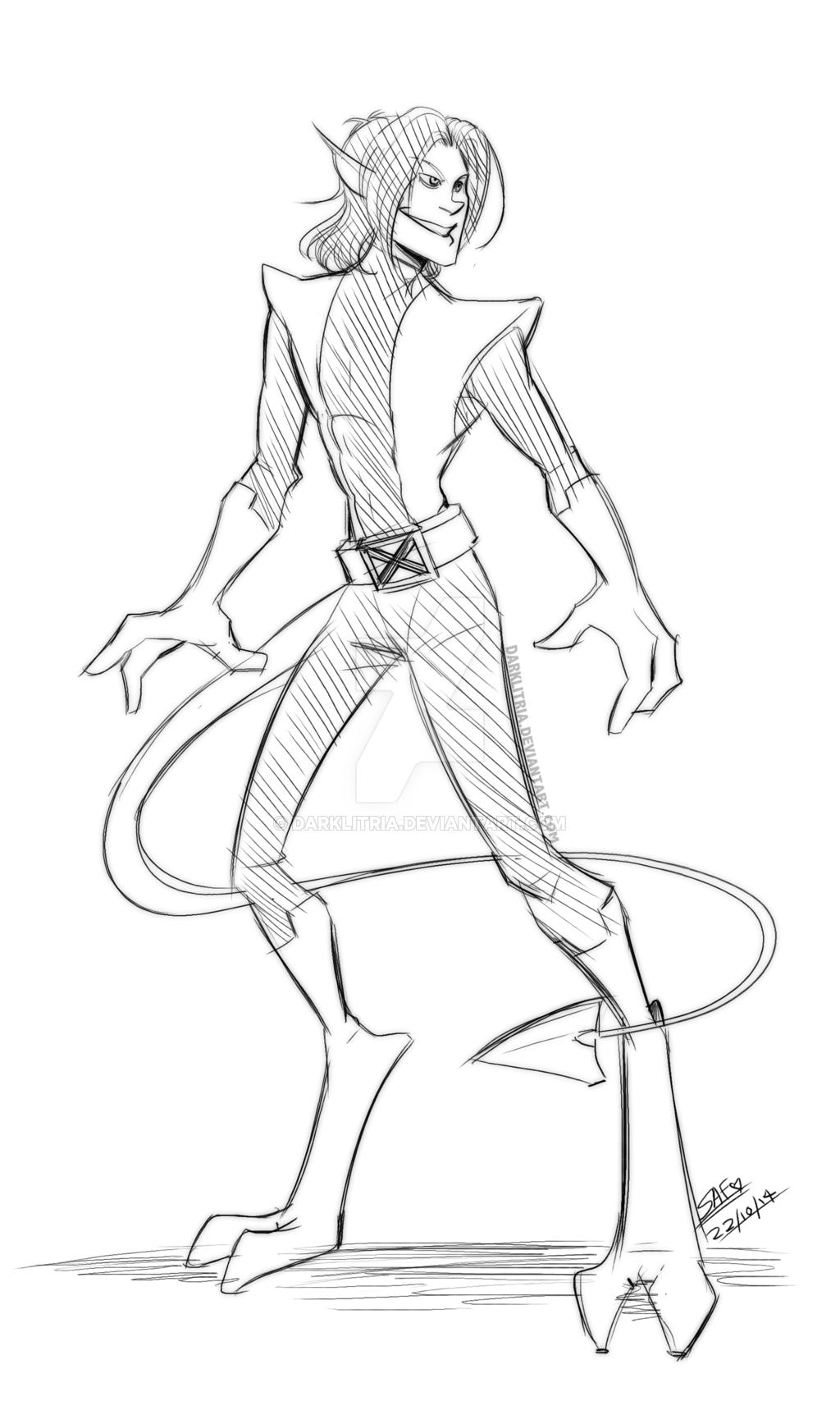 1024x1707 X Men Nightcrawler Sketch By Darklitria
