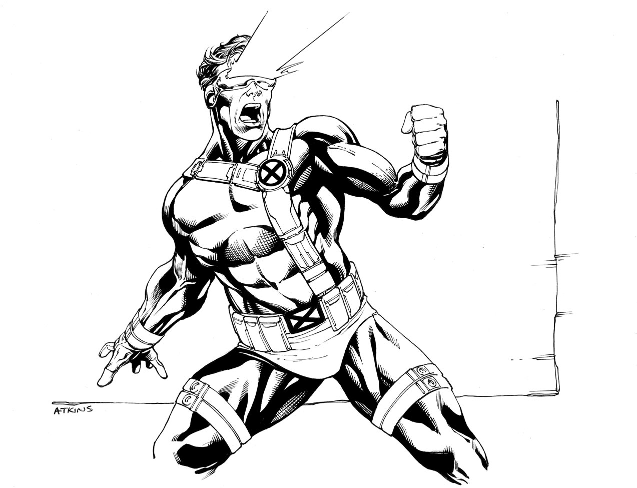 1273x975 X Men Comic Drawing Outlines