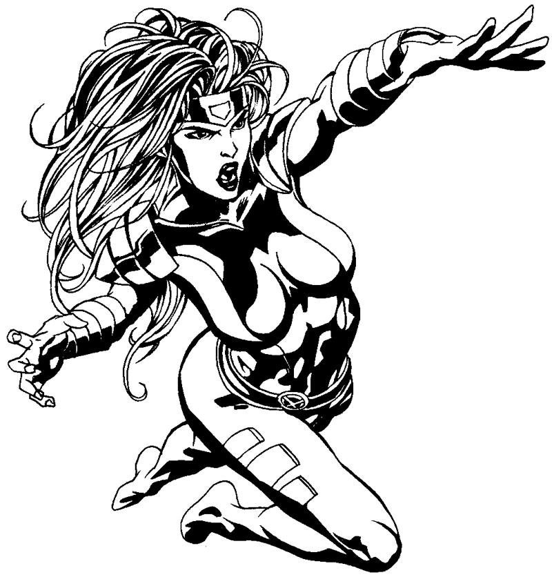 800x836 How To Draw Jean Grey From Marvel's X Men Superhero Team Drawing