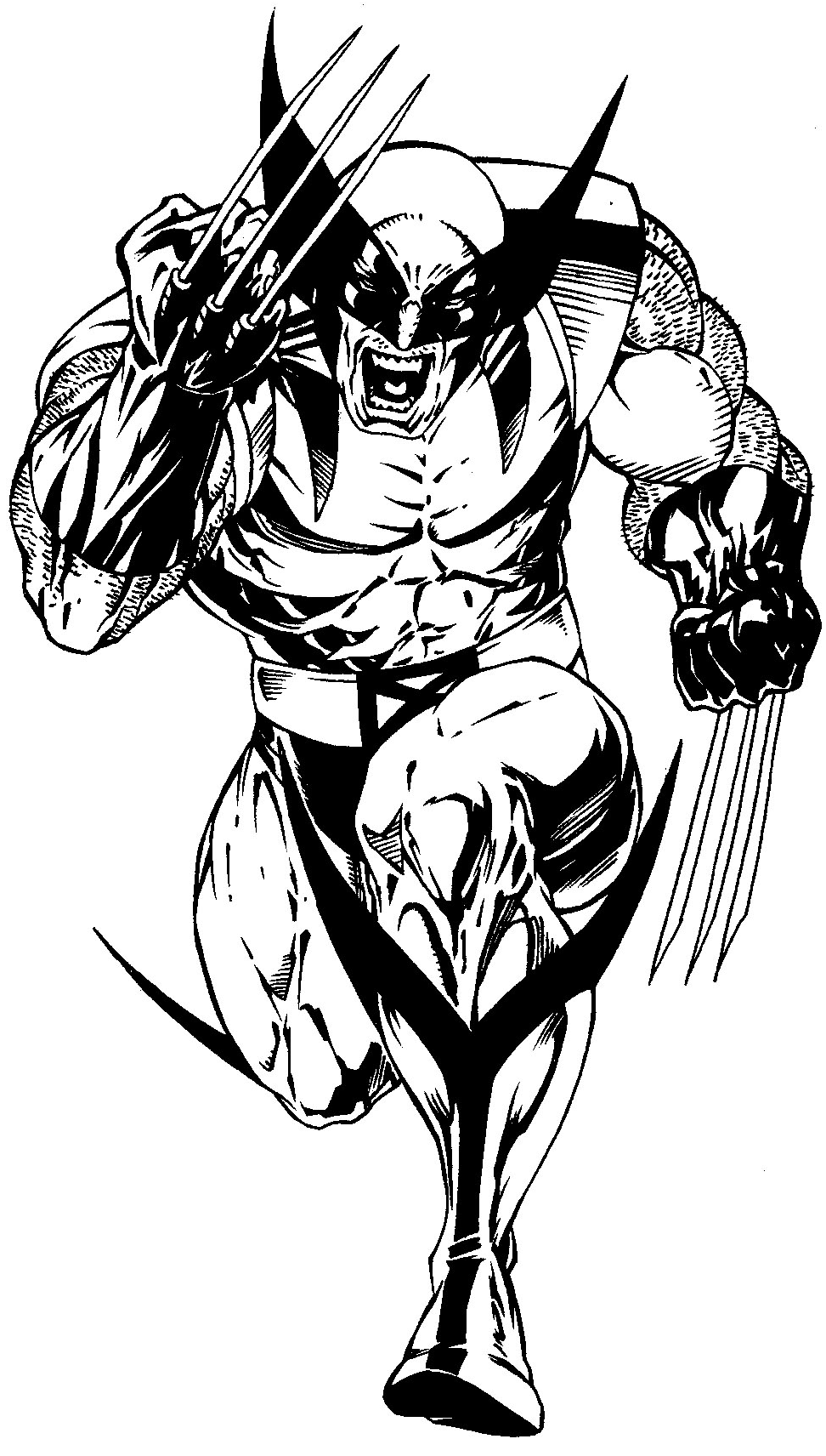 972x1712 How To Draw Wolverine From Marvel's X Men Superhero Team Drawing