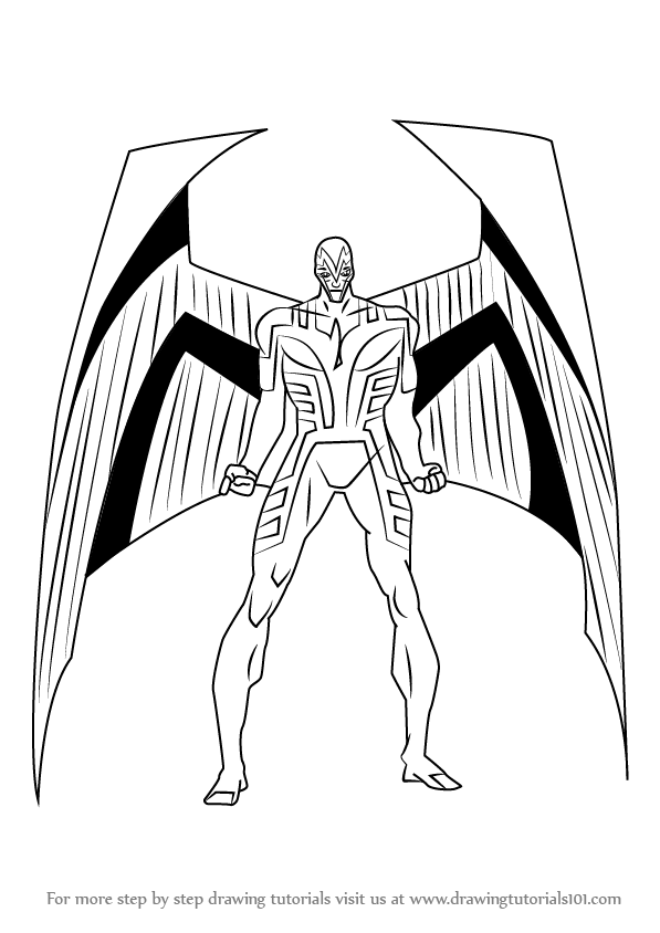 597x844 Learn How To Draw Archangel From X Men (X Men) Step By Step