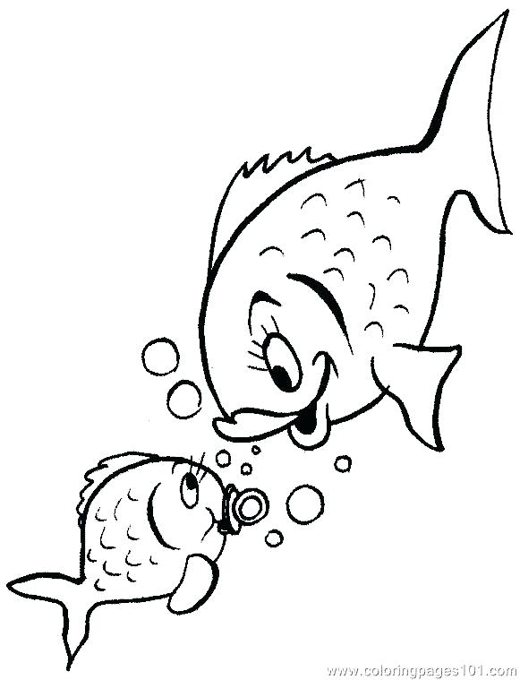 581x759 Tetra Animal Coloring Pages X Ray Fish Coloring Page Free