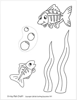 272x350 X Is For X Ray Fish Craft And Letter Tracing By Crafting Education