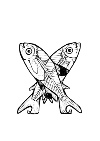 339x480 X Is For X Ray Fish Coloring Page Free Printable Coloring Pages