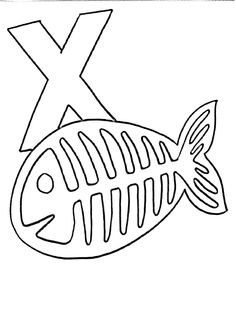 236x332 X Is For Xray Fish Colouring Page Kid Crafts