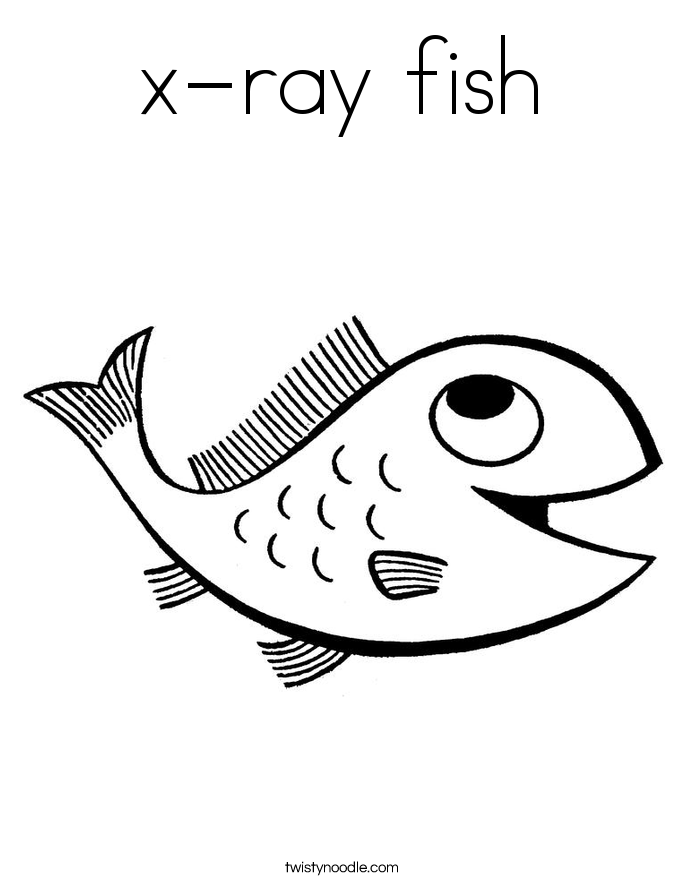 685x886 X Ray Fish Coloring Page
