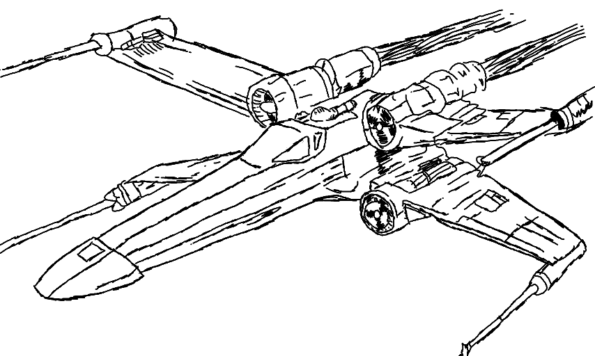 X Wing Drawing at GetDrawings | Free download