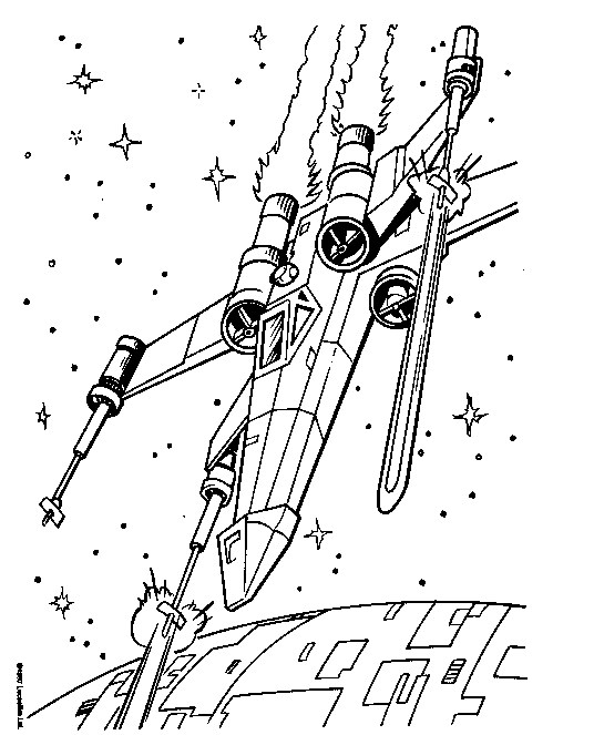 536x663 Star Wars X Wing Fighter Coloring Pages