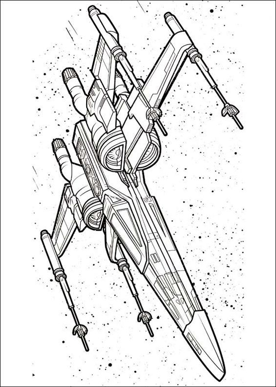 564x789 Star Wars X Wing Free Coloring Page Adults, Kids, Movies, Star