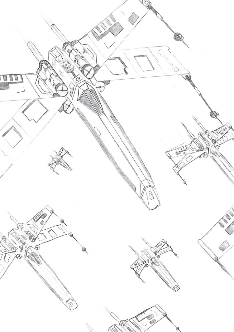 751x1064 An X Wing Squadron By 45swc54