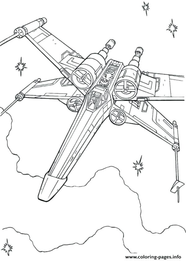 600x841 Wing Coloring Pages Star Wars X Wing Fighter Coloring Pages